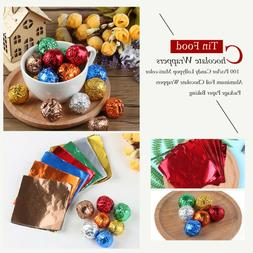 Hot 100 Pcs Candy Lollypop Aluminum Foil Chocolate Wrappers