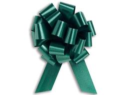 Hunter Green Flora Satin 5.5 Inch Wide Pull Bows - 20 loops