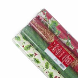 Image Arts Christmas Wrapping Paper Bundle with Cut Lines on