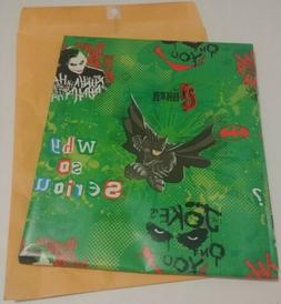 Joker Christmas Gift Wrap Wrapping Paper same as 20 sq. ft.