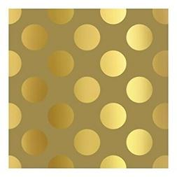 International Greetings Jumbo Roll Wrapping Paper - Golden D