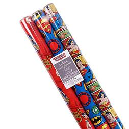 Hallmark Justice League Wrapping Paper with Cut Lines