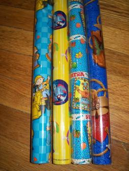"""Kids Gift Wrap Wrapping Paper 12.5 sq ft 30"""" Rolls Unique As"""