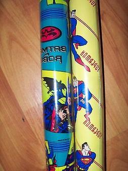 """Superhero Kids Gift Wrap Wrapping Paper 12.5sq ft 30"""" Rolls"""