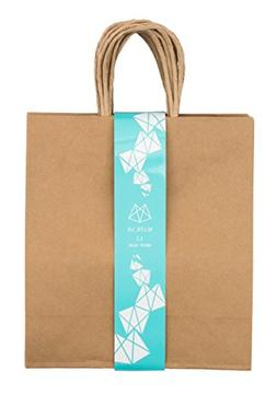 Brown Gift Bags, 12-Count - 9.8L x 11H x 4.7W Inches, Medium