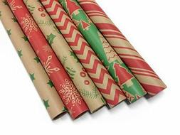 Kraft Classic Wrapping Paper Set - 6 Rolls - Multiple Patter