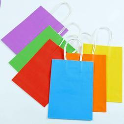Kraft Paper Gift Bags w/ Handles Assorted Matte Colors Party