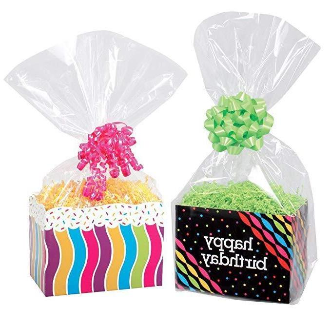 Clear Cello Basket Cellophane Bags - Gift Package Flat Gift