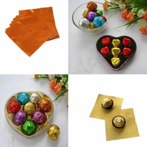 100Pcs Square Aluminum Candy Package