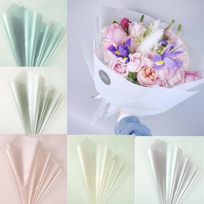 10pcs Floral Wrapping Paper Waterproof Rose Bouquet Package