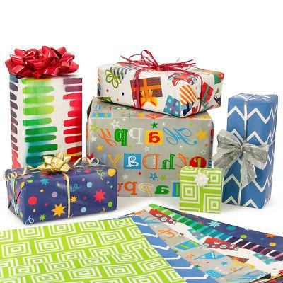 12pc special occasion flat wrap assortment wrapping
