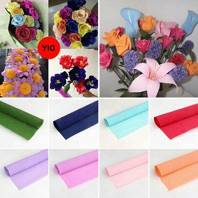 1pc diy crepe wrapping paper flower bouquet