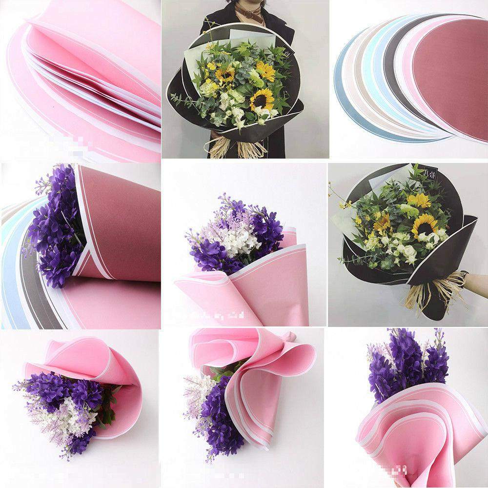 20pcsDIY Wrapping Paper Round Flower Bouquet Craft Paper Gif