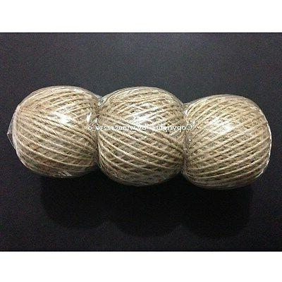 3 Roll 2mmØ 2ply Natural Jute Hemp Linen Twine Rope Cord St