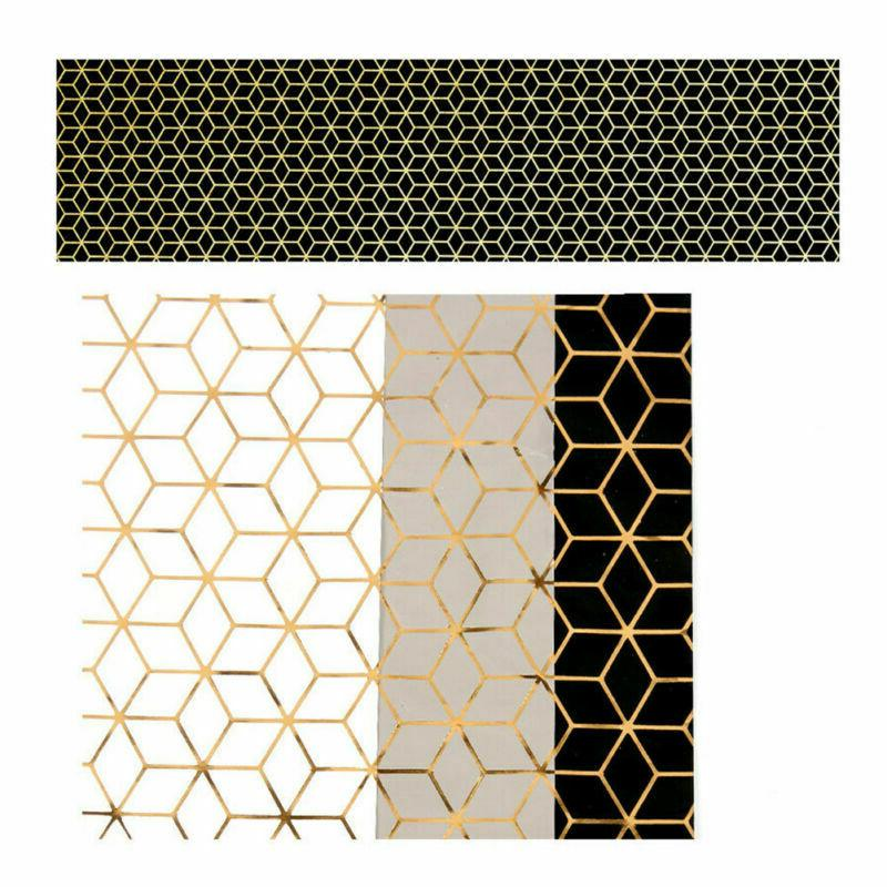 3pcs Paper Geometric Gift Wrapping Paper