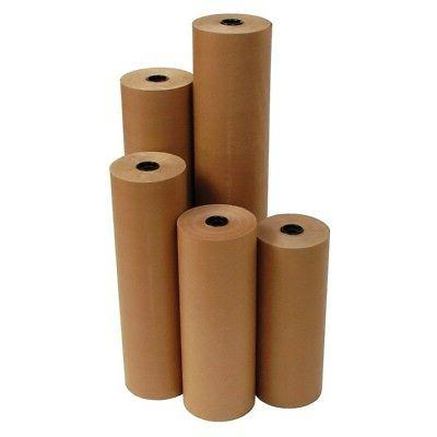 "12"" 40 lbs 900' Brown Kraft Paper Roll Shipping Wrapping Cus"