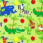 5 Sheets Of Boys & Girls Animal Gift Wrap With Monkeys, Elep