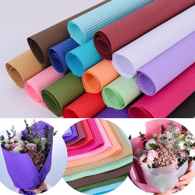 50*70cm Colored Corrugated Paper Scrapbooking Packs Wrapping