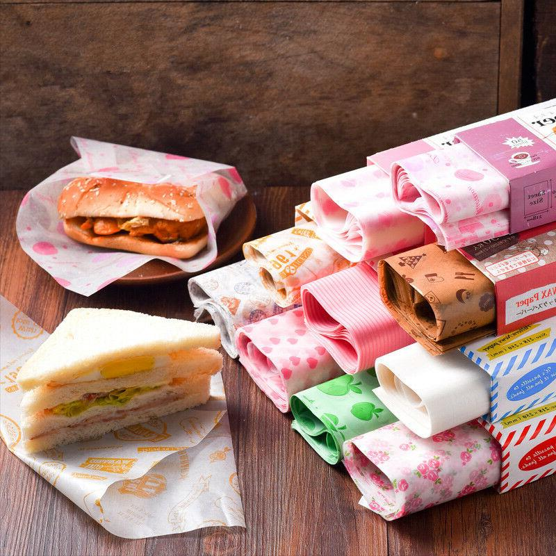 50Pcs Wax Paper Paper Sandwich for HamBurgers Wrapping