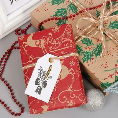 5pc Christmas Wrapping Paper Gift Wrapping Paper Roll Kraft