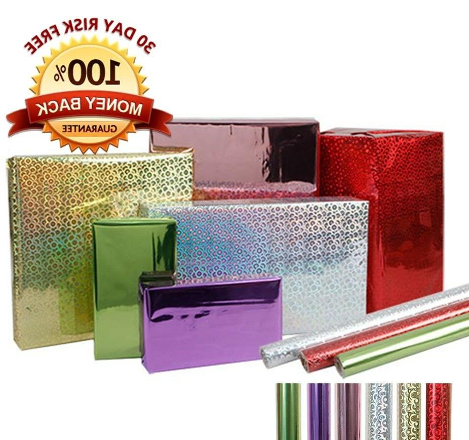 6 Pack: Metallic Gift Wrapping Paper Roll Shiny Premium Foil