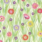 Caspari - Continuous Gift Wrap Roll, Flowers and Grasses