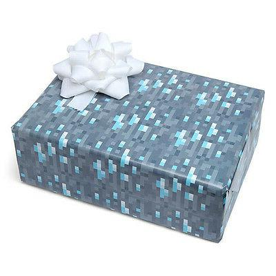 Minecraft Gift Wrap Diamond Ore Wrapping Paper Mine Craft Ne