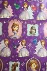Disney Sofia the First Purple Christmas Wrapping Paper, 60 s
