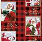 Hallmark Christmas Santa Plaid Heavy Weight Wrapping Paper r