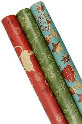 Vintage Prints Christmas Kraft Wrapping Paper