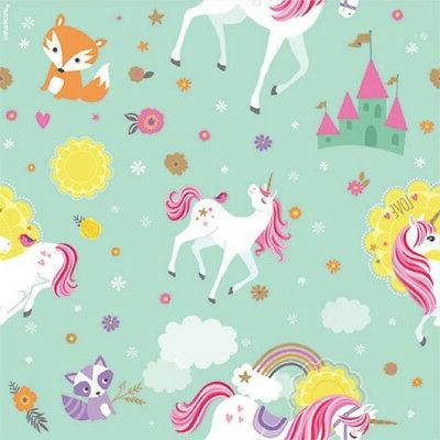 MAGICAL UNICORN ROLL OF GIFT WRAP ~ Birthday Party Supplies