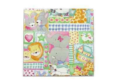 """NEW 20"""" x 30"""" 9 Sheets Cute Animal Heart Theme Gift Wrapping"""