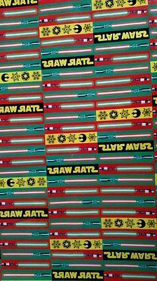NEW Star Wars Christmas Wrapping Paper Lightsaber Characters