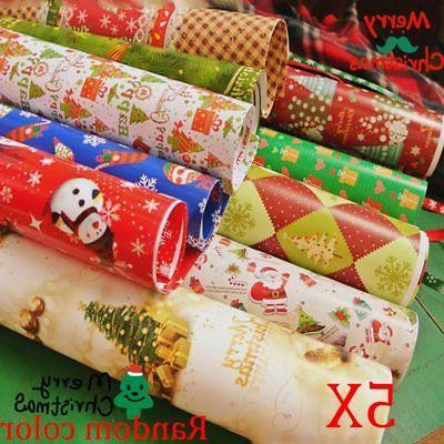 f67ae1b17 New 5pcs Wrapping Paper Gift Wrap Artware Packing Package Pa