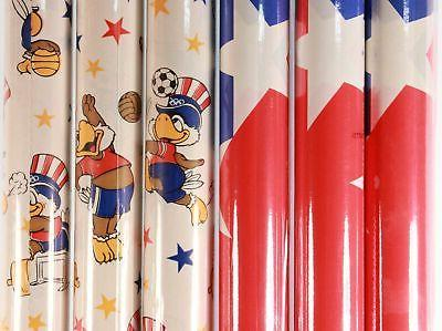 New/Old Stock 6 Rolls of Americana 15 Sq. Ft. Wrapping Paper