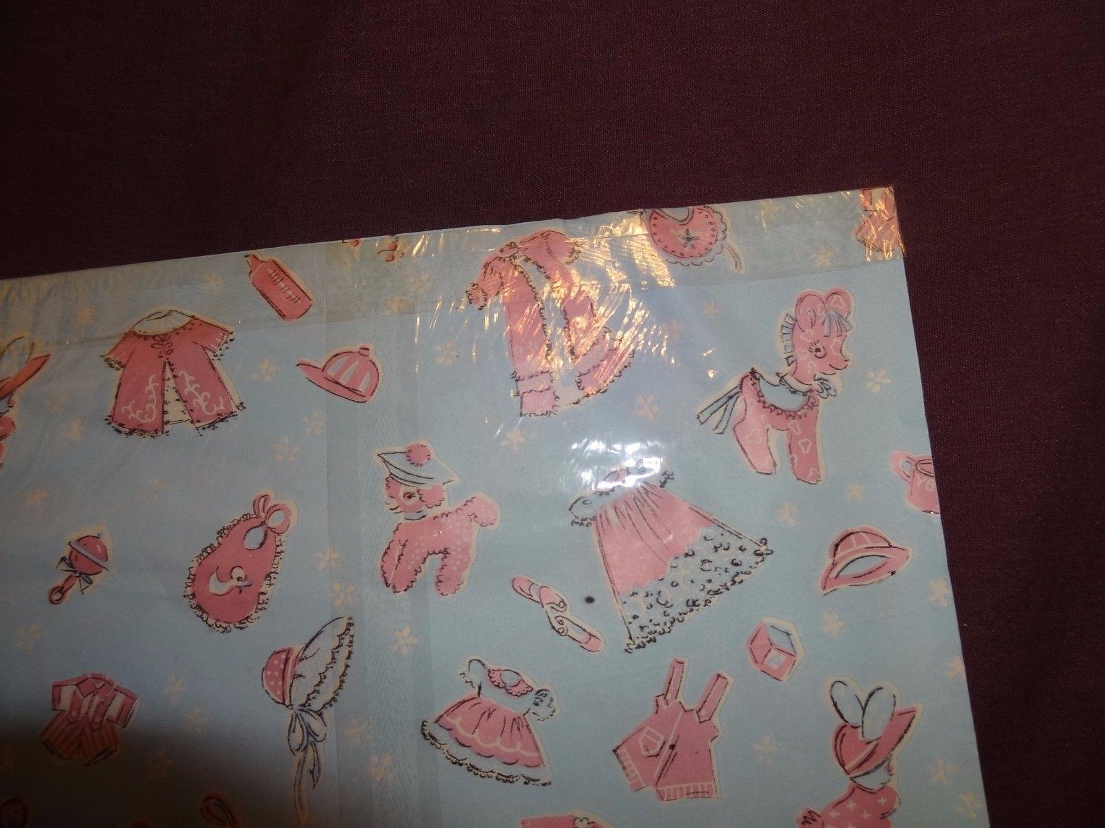 Vintage Gift Wrapping Paper Dennison Sheets Old