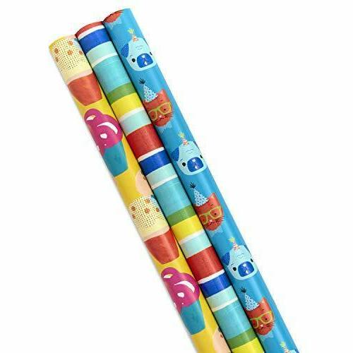 all occasion wrapping paper bundle with cut
