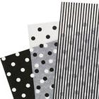 Assorted Black White Polka Dot Stripe Tissue Paper Gift Wrap