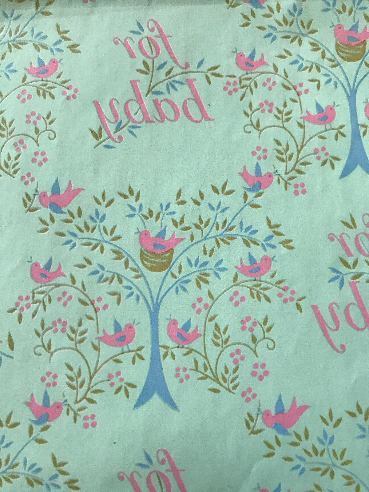 baby wrapping paper vtg 1960 s approx