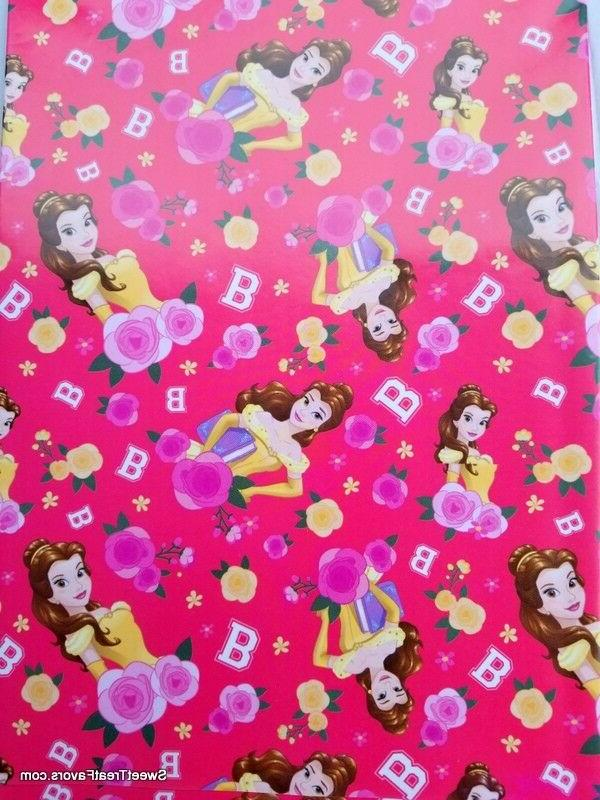 belle princess wrapping paper gift book cover
