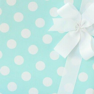 Big Dots Wrapping Paper / Gift Wrap - Blue Taffy - by SmashC