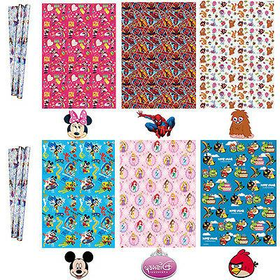 Birthday Wrapping Paper Gift Wrap Boys Girls Disney Spiderma