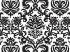 "Black White ""Flourish"" Damask Flowers Tissue Paper Gift Wrap"
