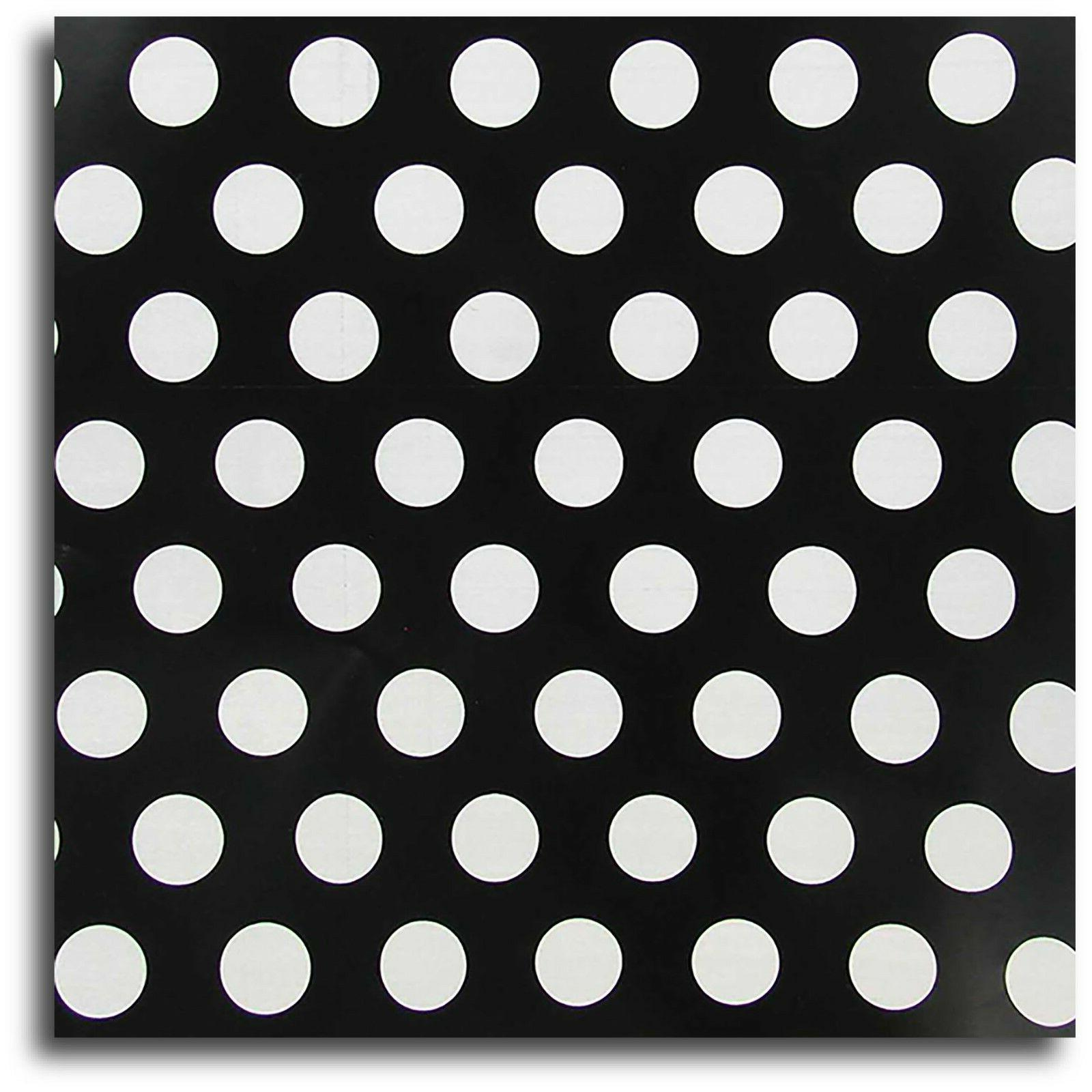 "Black/White Polka Dot Wrap Paper - 30"" x 240"" Lg Roll - 50 S"