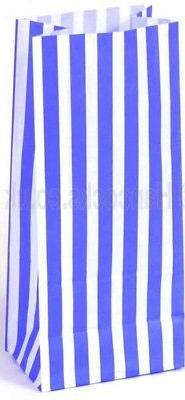 Blue and White Long Sweet Candy Bags x 100 - Wedding Buffet