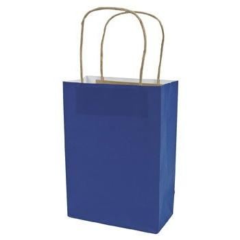 blue craft paper bags