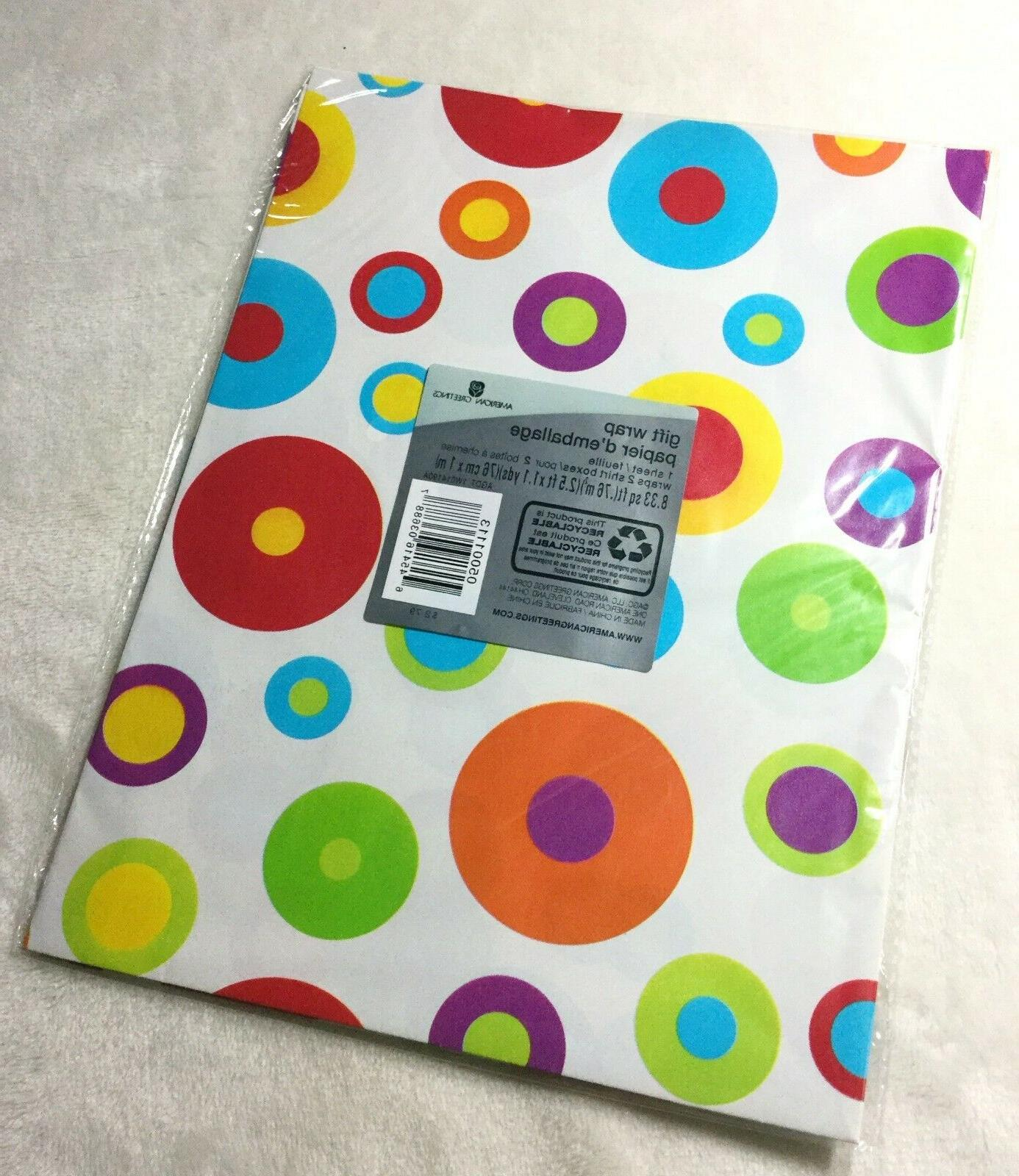 bright colored polka dots gift wrap wrapping