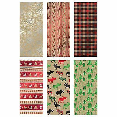 Bundle of 6 of Christmas Paper, Kraft Cabin - 90...