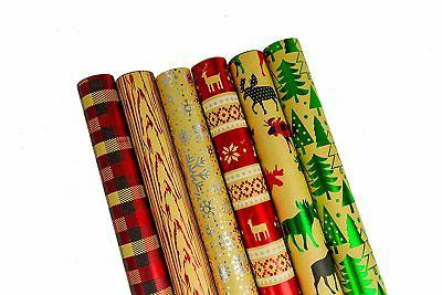 bundle of 6 rolls of christmas gift