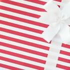 Candy Striped Wrapping Paper / Gift Wrap - Cheery Cherry - b